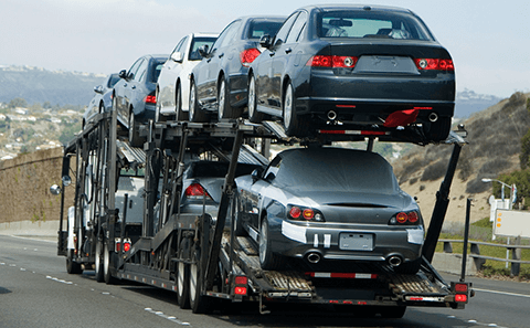Vehicle Container Shipping
