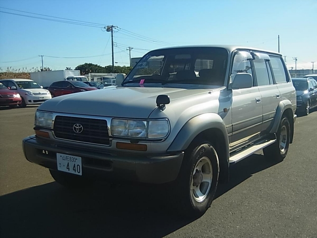 Toyota Land Cruiser 80  SUV 9 - 1995  FAT PEARL WHITE